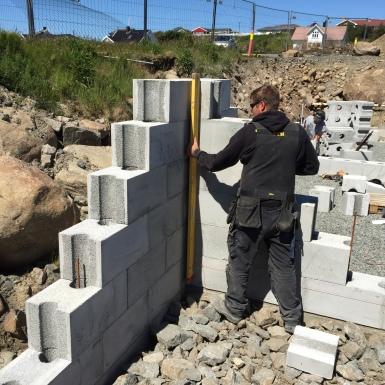 Building method - Levelling corner